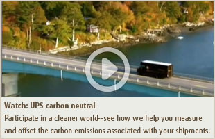 Vea: UPS carbon neutral
